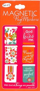 Magnetic Bookmarks Set of 6: All Things Are Possible