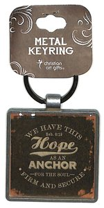 Metal Keyring: Finishing Strong: We Have This Hope (Black)