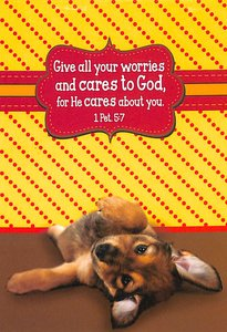 Notepad: Give All Your Worries and Cares to God (Puppy)