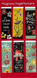 Magnetic Bookmarks Set of 6: Love Never Fails (1 Cor 13)