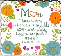 Magnet Flowers For You: Mum, Gladness Floral Pattern (Prov 31:29)