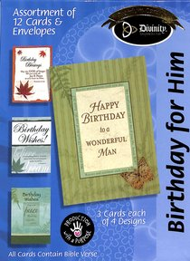 Boxed Cards Birthday For Him: Masculine