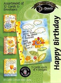 Boxed Cards Happy Birthday: Flowerpots