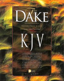 KJV Dakes Annotated 3 Column Reference Bible Black