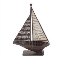 Sailboat Metal Tabletop: It is Well With My Soul