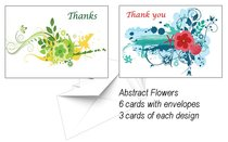 National Day of Thanksgiving Card Pack L: Abstract Flowers