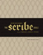 Message Scribe Bible Leather Look Brown Linen Weave