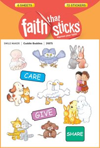 Cuddle Buddies (6 Sheets, 72 Stickers) (Stickers Faith That Sticks Series)