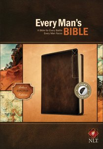 NLT Every Mans Bible Deluxe Explorer Edition Brown Indexed (Black Letter Edition)