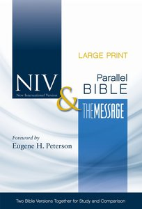 Niv/The Message Side-By-Side Bible Large Print