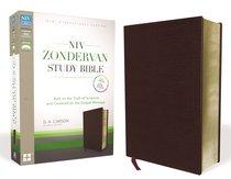 NIV Zondervan Study Bible Full Colour Burgundy (Black Letter Edition)