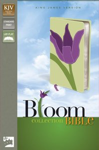 KJV Thinline Bloom Collection Tulip Italian Duo-Tone (Red Letter Edition)