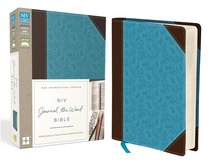 NIV Journal the Word Bible Brown/Blue (Black Letter Edition)