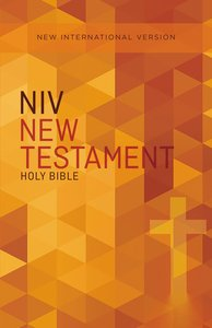 NIV Outreach New Testament Orange Cross