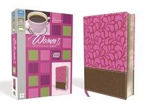 NIV Womens Devotional Bible Large Print Zippered Brown/Pink (Black Letter Edition)