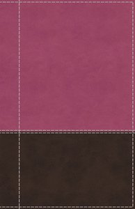 NIV Reference Bible Giant Print Pink/Brown (Red Letter Edition)