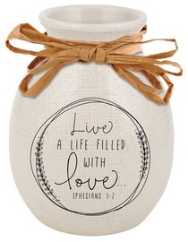 Ceramic Vase Hand Drawn Doodles: Love (Ephesians 5:2)