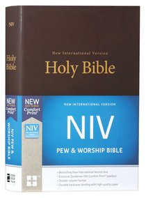 NIV Pew and Worship Bible Brown (Black Letter Edition)