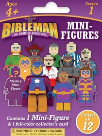 Bibleman Mini Figure , Ages 4+ (Contains 1 Mini-figure & 1 Four-color Trading Card From Series 1)