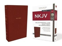 NKJV Deluxe Reference Bible Personal Size Giant Print Red (Red Letter Edition)