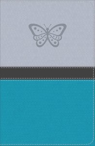 KJV Study Bible For Girls Silver/Teal Butterfly Design (Red Letter Edition)