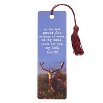 Bookmark With Tassel: As the Deer Pants For Streams of Water.....