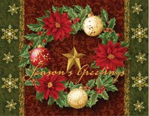 Christmas Boxed Cards: Seasons Greetings Wreath, Scripture