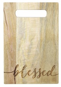 Mango Wood Cutting Board: Blessed