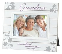 Mdf Slat Wood Frame: Grandma (1 Cor 1:4)