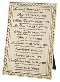 Cast Stone Small Desktop Plaque: One Another (Various Scriptures)