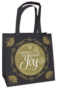 Christmas Eco Tote Bag Gold Ink Glitter: Tidings of Great Joy