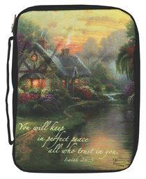 Bible Cover Thomas Kinkade Large a Quiet Evening