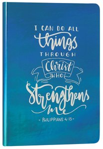 Iridescent Pearl Journal: Turquoise, I Can Do, Philippians 4:13