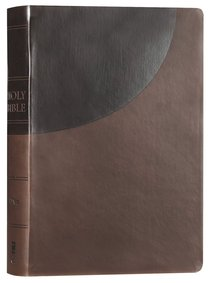 NIV Super Giant Print Reference Bible Brown Red Letter Edition