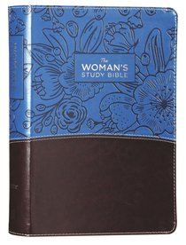 NIV the Womans Study Bible Blue/Brown Full-Color
