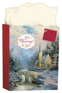 Christmas Gift Bag Large: Thomas Kinkade - Glory to God in the Highest (Incl Tissue Paper & Gift Tag) (Luke 2:14 Kjv)