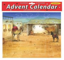 Advent Calendar With Stickers: Bethlehems Child