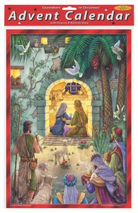 Advent Calendar: Peaceful Nativity Scene, Glitter