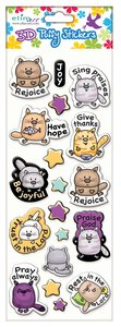 Puffy Stickers: Kitty Cat Series (1 Sheet Per Pack)