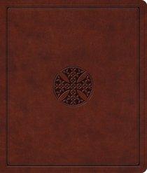 ESV Journaling Bible Brown Mosaic Cross Design