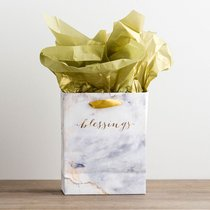 Gift Bag Small: Treasured Blessings, (Incl Two Sheets Tissue Paper)