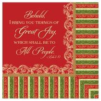Christmas Napkins: Behold I Bring You Tidings of Great Joy
