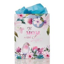 Gift Bag Medium: To Mom With Love, Floral