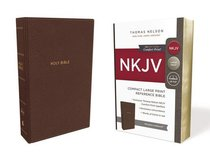 NKJV Reference Bible Compact Large Print Brown (Red Letter Edition)