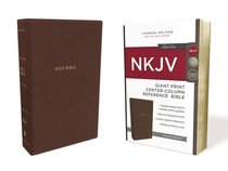 NKJV Reference Bible Giant Print Brown (Red Letter Edition)