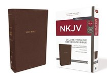 NKJV Deluxe Thinline Reference Bible Brown (Red Letter Edition)