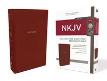 NKJV Deluxe Reference Bible Super Giant Print Red (Red Letter Edition)