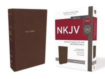 NKJV Compact Reference Bible Brown (Red Letter Edition)