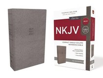NKJV Compact Reference Bible Gray (Red Letter Edition)