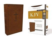 KJV Thinline Bible Brown (Red Letter Edition)